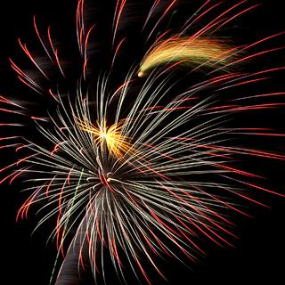 Fireworks photo showing original colors.