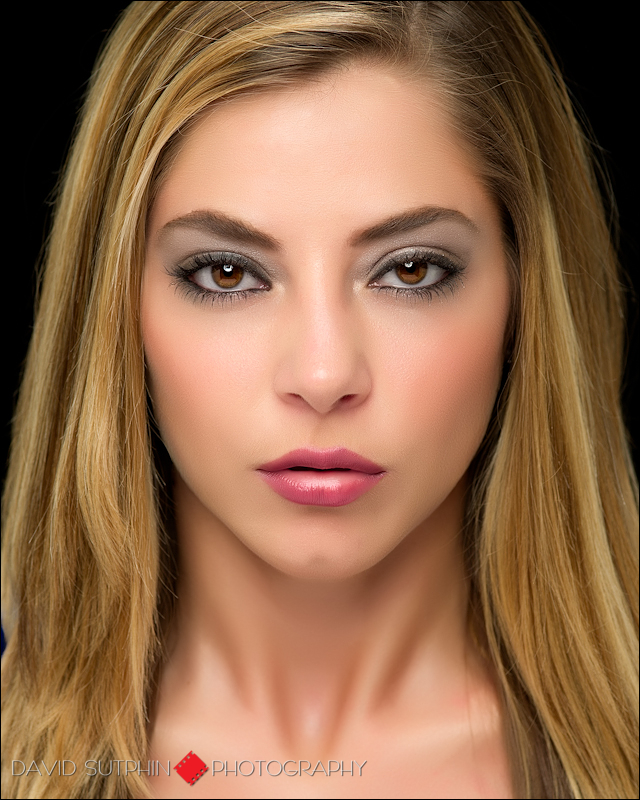 Beauty headshot for model Ashley's comp card.