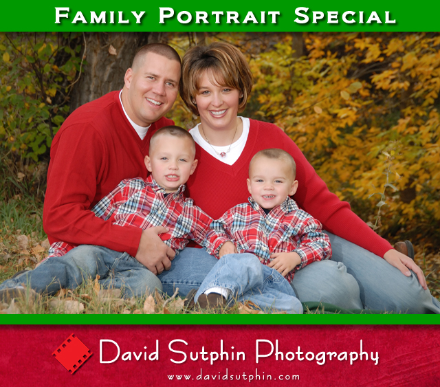 Family Portrait by David Sutphin Photography in Highlands Ranch