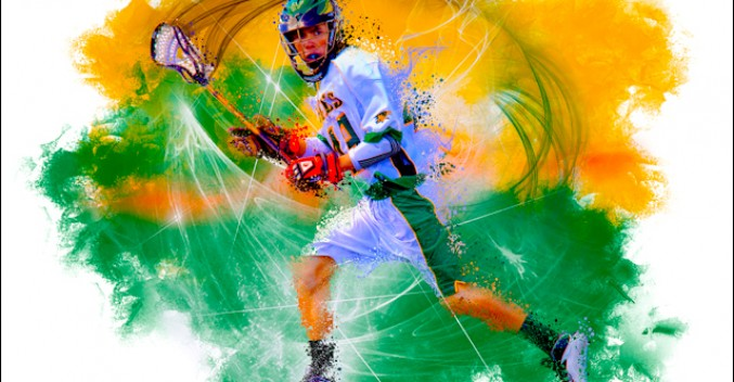 Moutain Vista High School Lacrosse Illustration