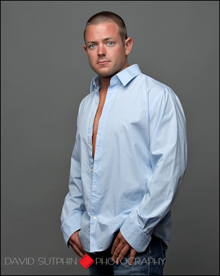 Another great modeling portfolio type shot of Chuck done in the photgraphy studio.