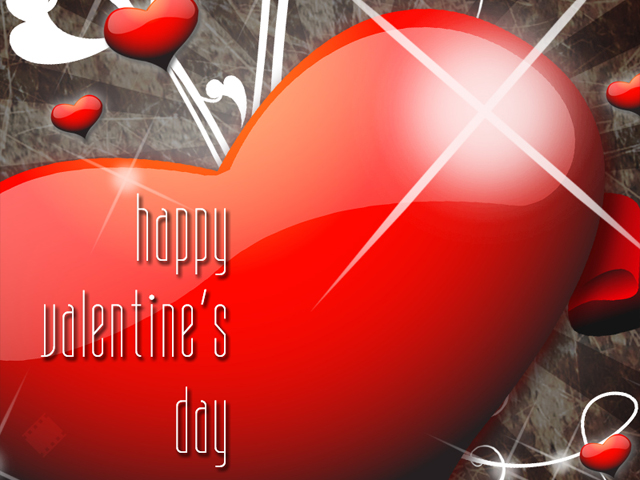 Valentine heart greeting from David Sutphin Photography in Highlands Ranch.