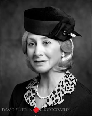 Black & white headshot of Judy Winnick portraying Irena Sendler circa 1950.