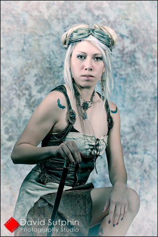 Antiqued Steampunk Portrait - David Sutphin Photography Studio